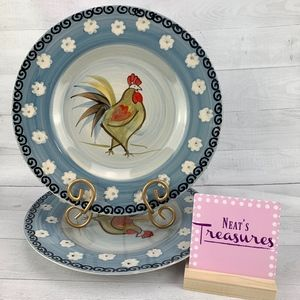 ROYAL NORFOLK Country Farm Rooster Chicken Plates